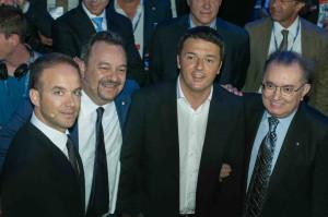 Ad inizio estate 2014 all'assemblea di Confindustria Vicenza e Verona, Pedrollo, Zigliotto, il Presidente Renzi e Squinzi.