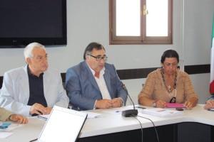Nereo Laroni (Ncd) e Clodovaldo Ruffato (Ncd) con l'assessore allo sviluppo economico Isi Coppola (Fiv)
