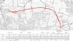 Il tracciato della parte della Tangenziale Nord di Vicenza chiamata anche bretella di Costabissara