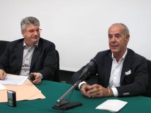 Massimo Piccoli, dg dell'Ulss 21, e Giancarlo Conta, capogruppo del Nuovo Centro Destra in Consiglio regionale a Venezia.