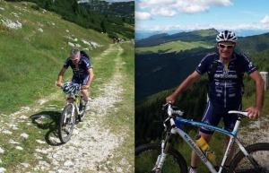 Il consigliere regionale Costantino Toniolo sorpreso in una delle sue abituali traversate ciclistiche dell'Altopiano di Asiago con la MTB. Toniolo è tesserato con l'ASD Mascotto di Caldogno.