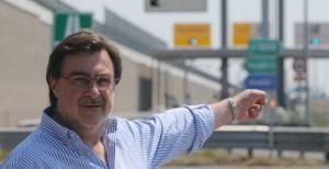 Renato Chisso quando nell'estate del 2009 interveniva per verificare il traffico sul Passante di Mestre