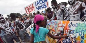 Manifestazione per gli aiuti contro Ebola