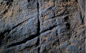 Foto di una parte della roccia rinvenuta e analizzata dai ricercatori spagnoli a Gibilterra.