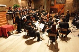 Coro e orchestra barocca Andrea Palladio che venerdì 31 ottobre 2014 sarà alle ore 20 a San Rocco a Venezia con Pino Costalunga.