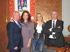 I consiglieri del NCD sotto il gonfalone della Provincia di Vicenza: rappresentano il 25% del Consiglio Provinciale.