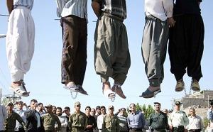 La pena di morte per impiccagione è praticata in alcuni paesi del Medioriente in particolare in Iran e Iraq.