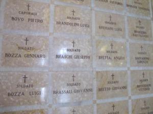 I loculi al Tempio della Pace di Padova