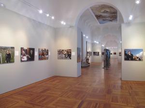 La sala espositiva di villa Contarini di Piazzola sul Brenta con le foto di Roberto Nistri