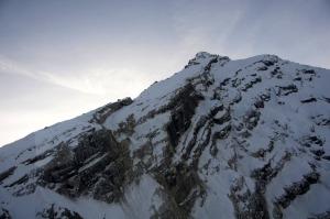 Un'immagine scattata il 23 novembre 2014 delle cime innevate dell'Antelao