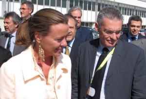 Il Ministro Beatrice Lorenzin e il consigliere regionale Costantino Toniolo a Vicenza nel 2013.