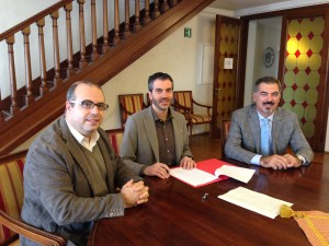 A sinistra Angelo Vernillo, Assessore alla sicurezza e al centro Riccardo Poletto, Sindaco di Bassano del Grappa con a destra Luca Ferazzoli, Presidente Unione Montana Valbrenta