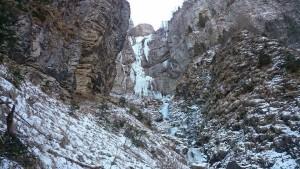 Cascata di ghiaccio in val di Gares, Canale d'Agordo
