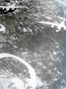 Bombardieri alleati sorvolano durante la Seconda Guerra mondiale l'area di Piazzola sul Brenta