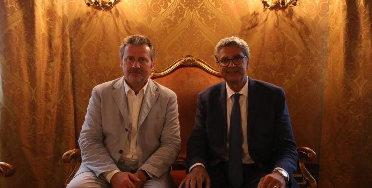 il pm della Corte dei Conti del Veneto Evangelista ricevuto oggi dal Presidente del Consiglio regionale Ciambetti