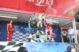 Luca Petrella sul gradino più alto del podio nel Trial 2 dell'ultima gara del Mondiale.