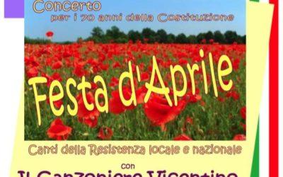 A Vicenza martedì 24 aprile all'Astra i Canti della Reistenza