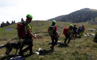 Tonezza del Cimone, esercitazione con 130 operatori del Soccorso alpino del Veneto