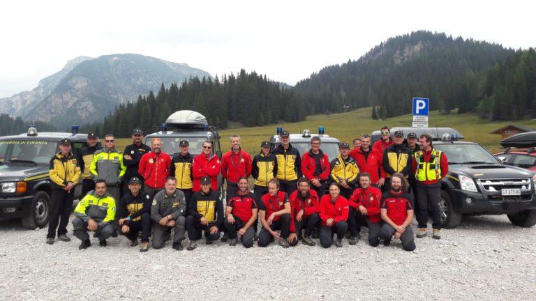 Sulle Dolomiti doppio addestramento congiunto del Soccorso Alpino