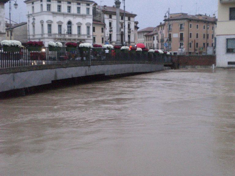 Prevista piena del Bacchiglione tra 29 e 30 ottobre 2018: scuole chiuse a Vicenza