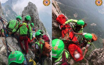 Alpinista recuperata in parete sul Baffelan