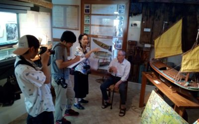 Giapponesi in visita al museo della navigazione fluviale di Battaglia Terme