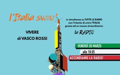 """L'Italia suonò: oggi alle 18,05 in FM flash mob in 100 radio con """"Vivere"""" di Vasco!"""