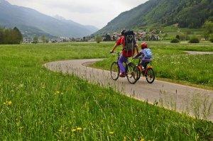 una ciclovia di montagna