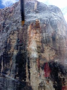 dettaglio della frana di oggi sul monte Pelmo
