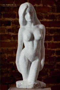 Un nudo femminile in pietra dello scultore boemo Petr Novak