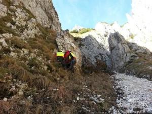 Il luogo del ritrovamento della salma di Sara, sulle montagne tra Veneto e Friuli