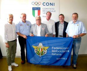 Da sinistra:  Roberto neneguzzo (Anonima Magnagati, Luigino Faraon (FMI-Coni_Veneto), Emiliano Barba (FMI Vicenza), Giuseppe Falco (Coni Vicenza), Ivano Varo (Radio Vicenza), Franco Brusamarello (FMI Vicenza).