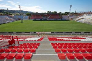 Le seggiolini rosse montante allo stadio comunale di Vicenza nei ultimi anni dalla Bericoplast