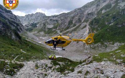 Infortunato in Val Sperlonga recuperato dall'elisoccorso