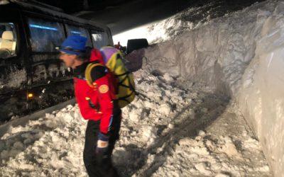 Valanga in Valparola e per fortuna nessun ferito