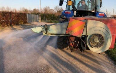 Giovani Coldiretti del Veneto pronti coi trattori per sanificazione delle strade