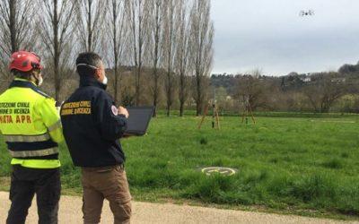 Coronavirus, a Vicenza anche un drone che insegue i runner discoli