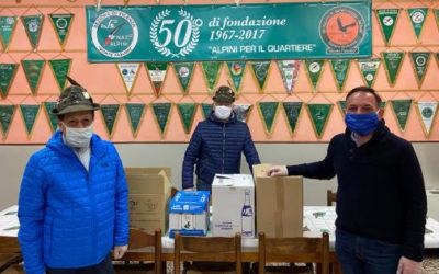 Coronavirus, a Vicenza dagli alpini cibo per le famiglie in difficoltà