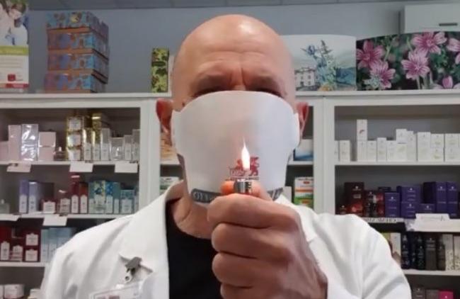 Coronavirus, non provate le mascherine con l'accendino: prendono fuoco! Fidatevi delle certificazioni sulla confezione! [VIDEO tailandese]