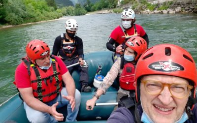 Grotte di Oliero con l'app e il rafting con Ivan Team in Valbrenta [VIDEO]