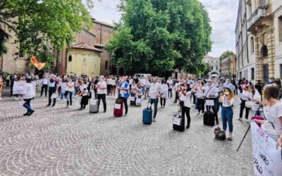 A Padova Forza Nuova protesta contro la dittatura sanitaria
