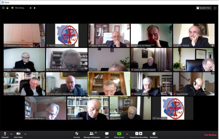 I Vescovi del Triveneto oggi in videoconferenza per ripartire dopo il Covid-19