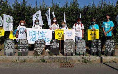 Le Mamme No Pfas del Veneto hanno manifestato ad Alessandria dove la Solvay produce il C604