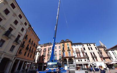 Nuova antenna 4G LTE in piazza dei Signori a Vicenza [FOTOREPORTAGE]