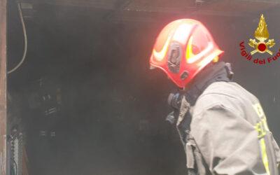 Garage a fuoco a Montecchio Maggiore