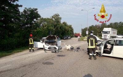 Scontro tra due auto sulla Postumia a Cittadella: due ferite
