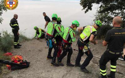 Precipita dalla Rocca del Garda verso Bardolino: miracolo, illeso!