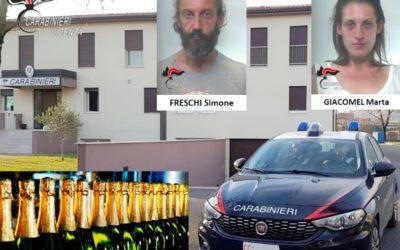 I carabinieri di Montecchio arrestano i ladri di Champagne: coppia trevigiana