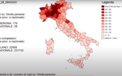 L'evoluzione reale dell'epidemia da Covid-19 in Italia in un video di Andrea Berni [VIDEO]