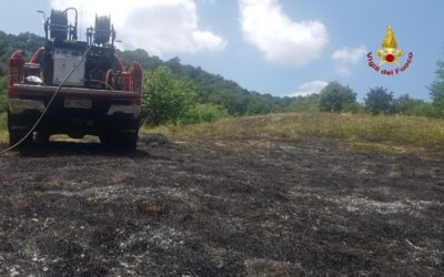 Clima torrido e secco e sui Berici prendono fuoco i campi